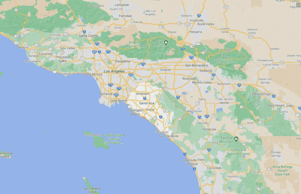 orange county lines on map